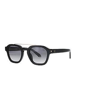 الشرطة لويس 19 SPLC47 0BLK سوبر الأسود / الدخان النظارات الشمسية التدرج