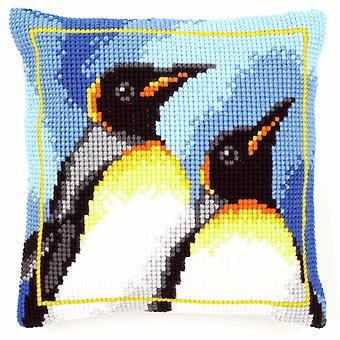 Vervaco Cross Stitch Kit: Coussin: King Penguins