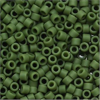 Miyuki Delica Samenperlen, 11/0 Größe, 7,2 Gramm, matte undurchsichtige Avocado Grün DB1585