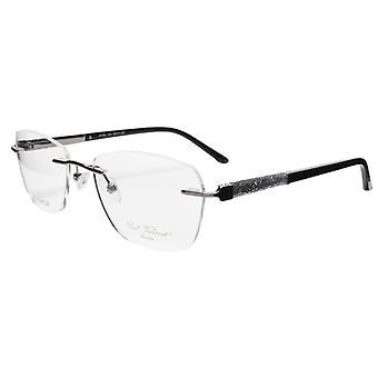 Paul Vosheront Eyeglasses Frame PV504 C01 Gold Plated Acetate Italy 52-17-135 36