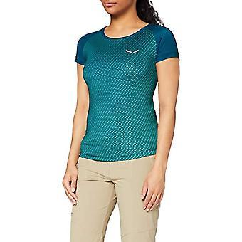 Salewa Pedroc Impreso S/S Blue Woman Sports Knitwear (Poseidón/5760 8961) 40