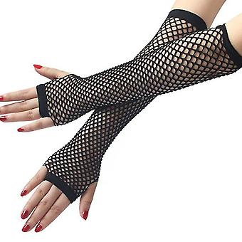 Sexy Dress Party Lace Glove, Guantes florales sin dedos para mujeres