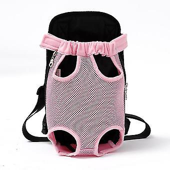الوردي xl شبكة الناقل الحيوانات الأليفة تنفس الكتف التمويه مقبض أكياس cai229