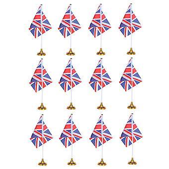 M תמונה 2 12pcs בריטניה המדינה הלאומית דגל יצירתי שולחן העבודה דגלים ייחודיים שולחן דגלים קישוט שולחן למשרד הביתי עם בסיס dt2090
