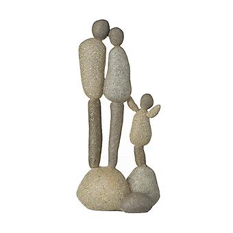 Stone Family Of Three By Heaven Sends