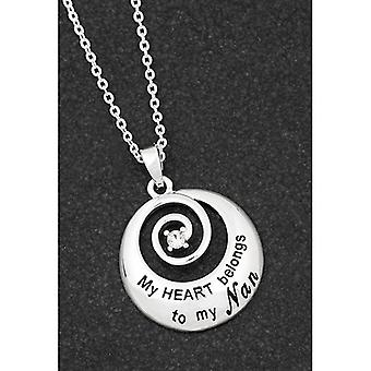Sentiment Swirl Silver Plated Necklace Nan