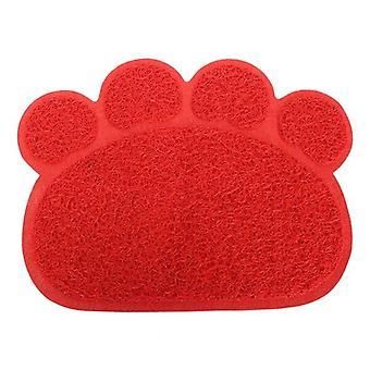 Pet dog pvc puppy dish bowl feeding mat wipe clean