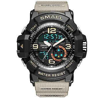 Men outdoor leisure sports waterproof watch(Khaki)