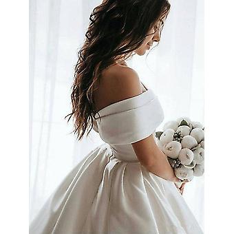 Prinses trouwjurk, schouder bruiloft bruid jurk