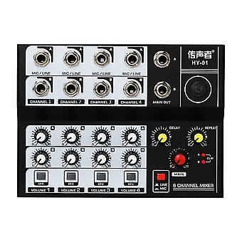 8-kanaals multifunctionele usb audio mixer draagbaar geluid
