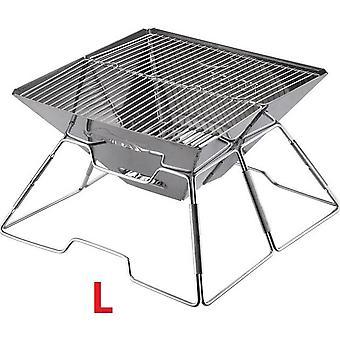 Ulkona ruostumaton teräs grilli monitoiminen hiili liesi taittuva piknik moninpeli grilli trumpetti camping puu kiinteä