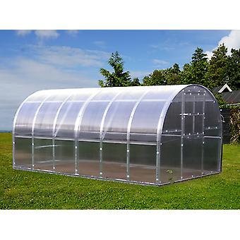 Greenhouse polycarbonate TITAN Arch 320, 12 m², 3x4 m, Silver