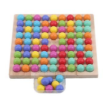 لعب الأطفال التعليمية مونتيسوري لون فرز خشبي لعب كليب الخرز لعبة الرياضيات لعبة| ألعاب الرياضيات