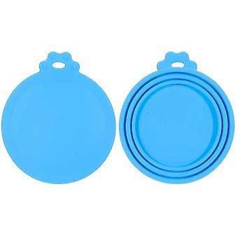 Pack Of 2 Silicone Lids For Can Food