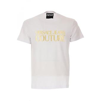 Versace Jeans Couture Jeans Couture Bomull Tryckt Logotyp Vit T-shirt