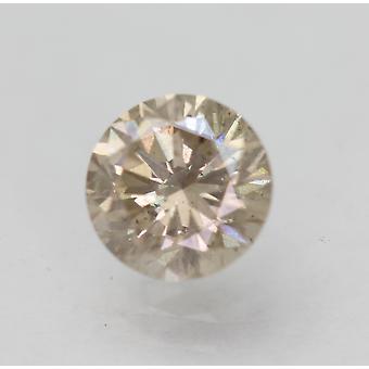 Cert 0.87 Karat Top Vaaleanruskea SI1 Pyöreä Brilliant Natural Diamond 6.08mm 3VG
