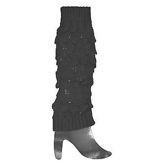 Gestrickte Beinwärmer schwarz