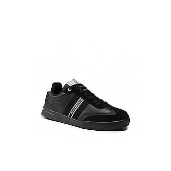 Versace Jeans Couture Polyester/suede/leather Logo Black Trainer