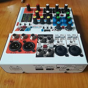 Mini 6 kanálový sound dj mixer dozvukovací konzole USB záznam