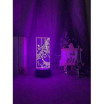 3d Optisk Illusion Night Light - Led Farve Skiftende Lampe