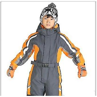 Winter One-piece Waterproof Ski Suit-boys Warm Jumpsuit Thermal Outdoor Suit