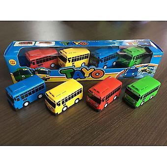 4 pcs The Little Bus TAYO Friends Mini Conjunto Especial