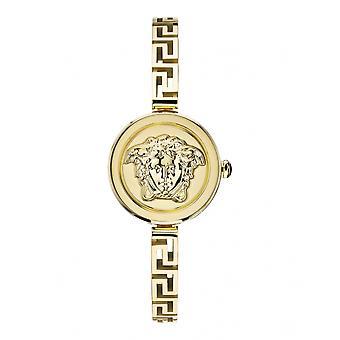 ヴェルサーチVEZ500121 女性ゴールドトーンメドゥーサ シークレットスチールブレスレット腕時計
