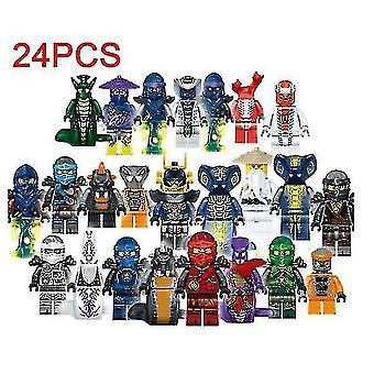 24 أجهزة الكمبيوتر نينجاجو مصغرة شخصيات مجموعة من