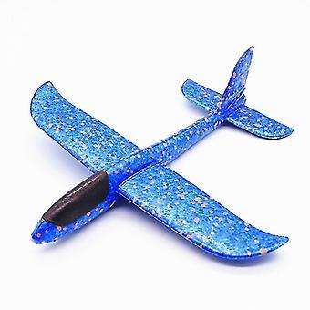Diy niños tirando a mano volando avión planeador de juego (30cm azul)