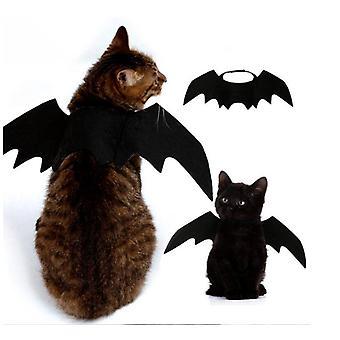 Pet Cat Vleermuis vleugels voor Halloween Cosplay Vleermuis kostuum