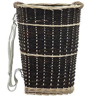 Chunhelife Sac à dos en bois de chauffage avec ceintures de transport 50x44x58 Cm Saule naturel