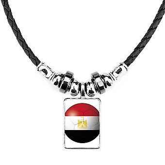 Egyptská národná vlajka futbalový náhrdelník