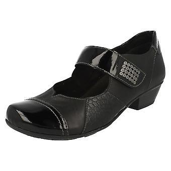 Ladies Remonte Mary Jane stile scarpe intelligente D7346