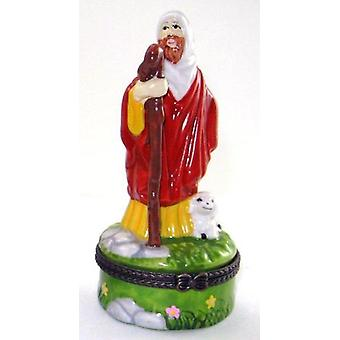 Prophet Moses the Good Shepherd Porcelain Hinged Trinket Box