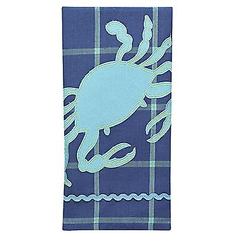Salt Water Blue Crab Applique 28 Inch Kitchen Dish Towel