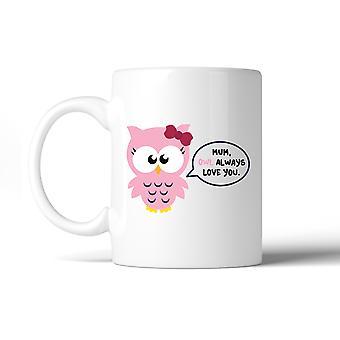Moeder uil Always Love You keramische koffiemok moeders dag speciaal cadeau