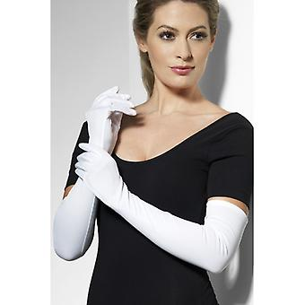 Mănuși mâneci lungi albe mănuși cu mânecă lungă