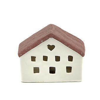 Luz-brilho Mini casa com LED vermelho