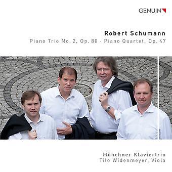 Schumann / Munich Piano Trio / Widenmeyer - Piano Trio No. 2 Op. 80 - Piano Quartet Op. 47 [CD] USA import