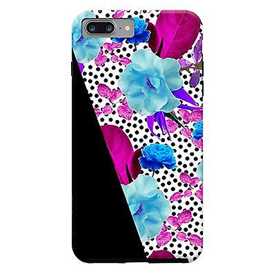 ArtsCase Designers Cases Dark Polka Florals for Tough iPhone 8 Plus / iPhone 7 Plus