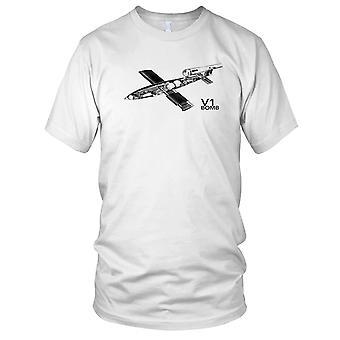 V1 Bombe WW2 verdenskrig tyske våpen Mens T skjorte