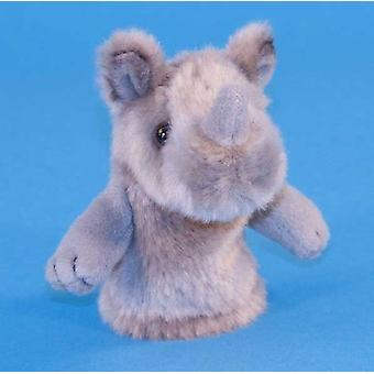 Dowman Rhino Finger Puppet Soft Toy