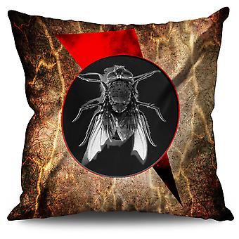 Fly Bug Insect Animal Linen Cushion 30cm x 30cm | Wellcoda
