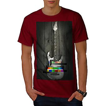 Guitar Colorful Art Music Men RedT-shirt | Wellcoda