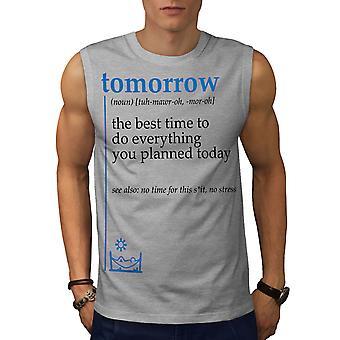 Morgen am besten Männer GreySleeveless T-shirt | Wellcoda