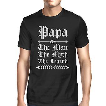 Vintage Gothic Papa miesten musta puhdasta puuvillaa T t-paita hauska vitsi