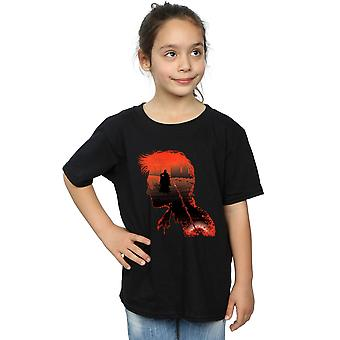 Harry Potter Girls Battle Silhouette T-Shirt