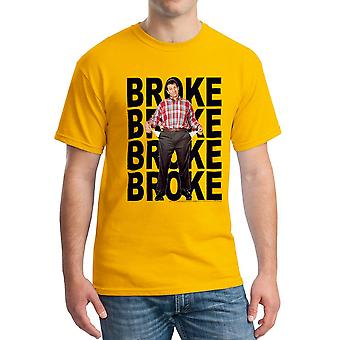 Married With Children Broke Repeat Men's Gold T-shirt