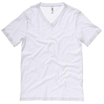 Bella Canvas Mens Jersey V-Neck T-Shirt