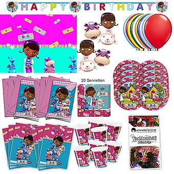 Doc McStuffins party set XL 73-teilig for 6 guests McStuffinsparty birthday decoration party package